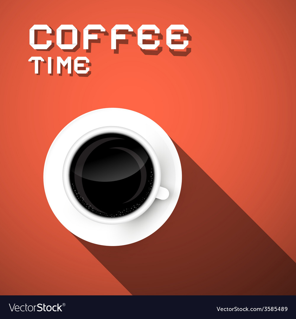 Coffee time retro vector | Price: 1 Credit (USD $1)