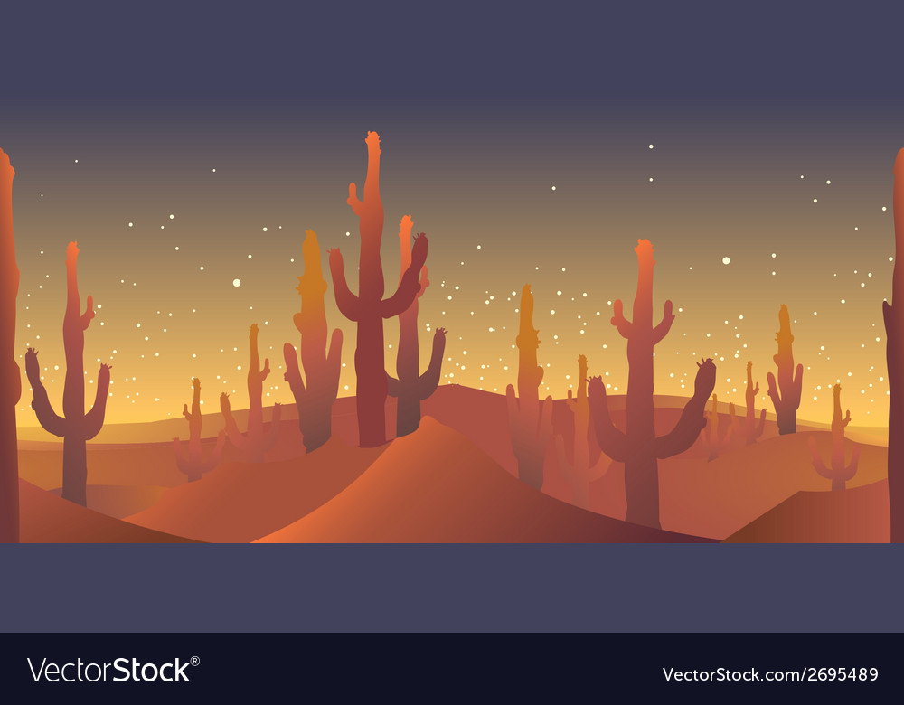 Desert rusk seamless pattern vector | Price: 1 Credit (USD $1)