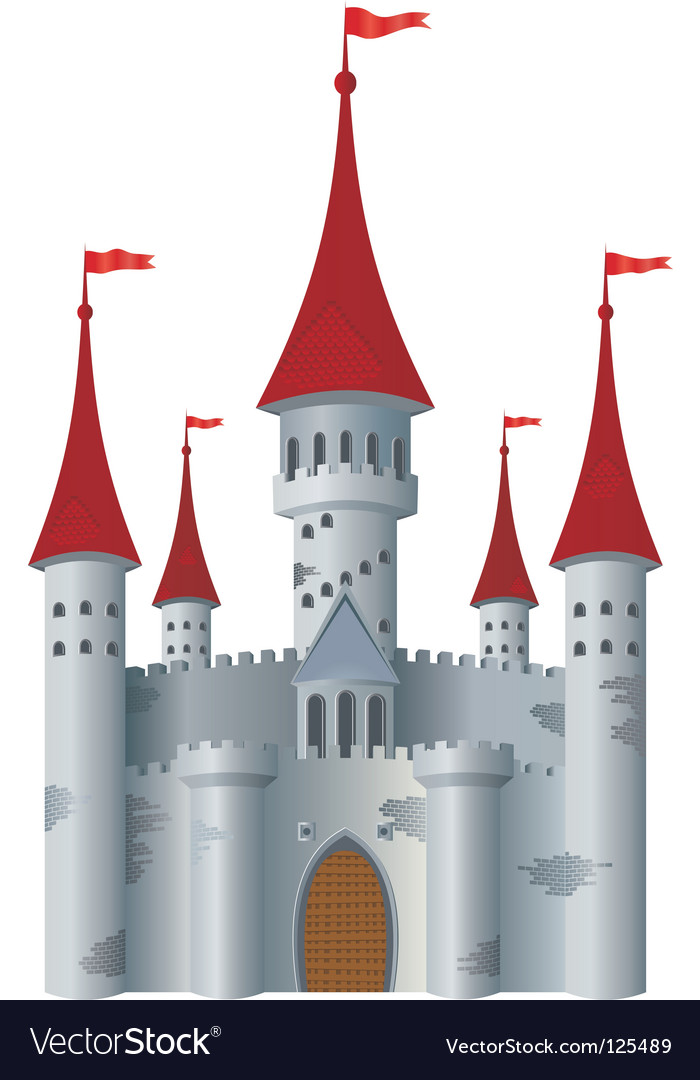Fairytale castle vector | Price: 1 Credit (USD $1)