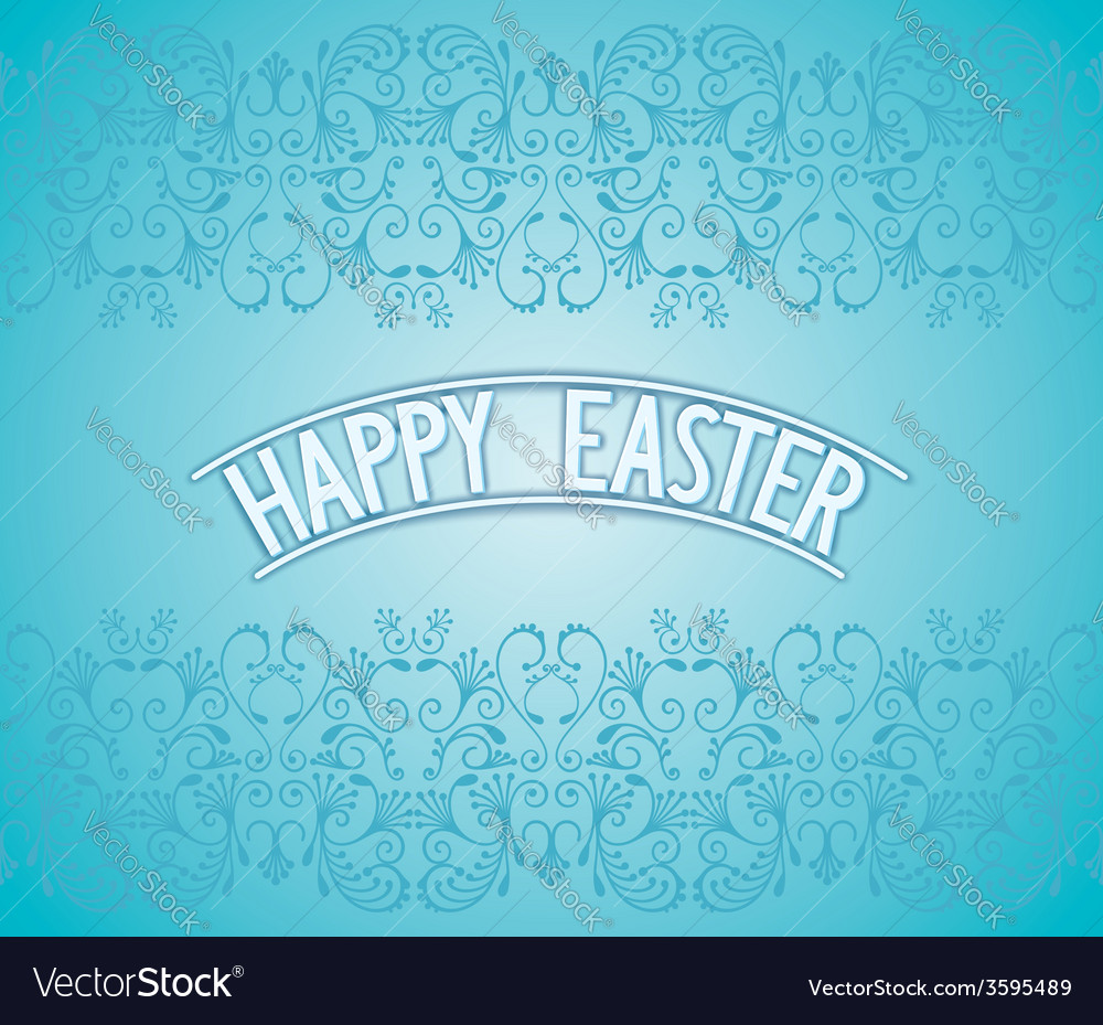 Happy easter lettering vector | Price: 1 Credit (USD $1)