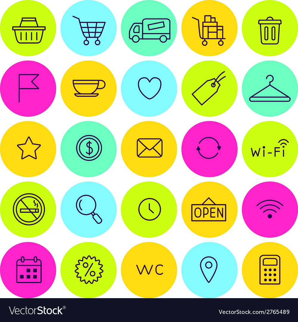 Set of shop icons for web vector | Price: 1 Credit (USD $1)