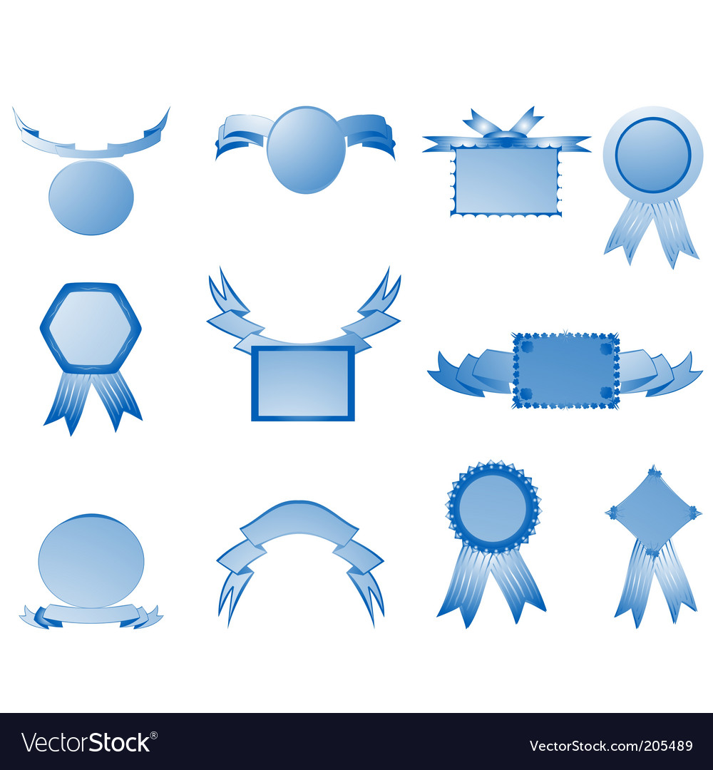 Shield and banner vector | Price: 1 Credit (USD $1)