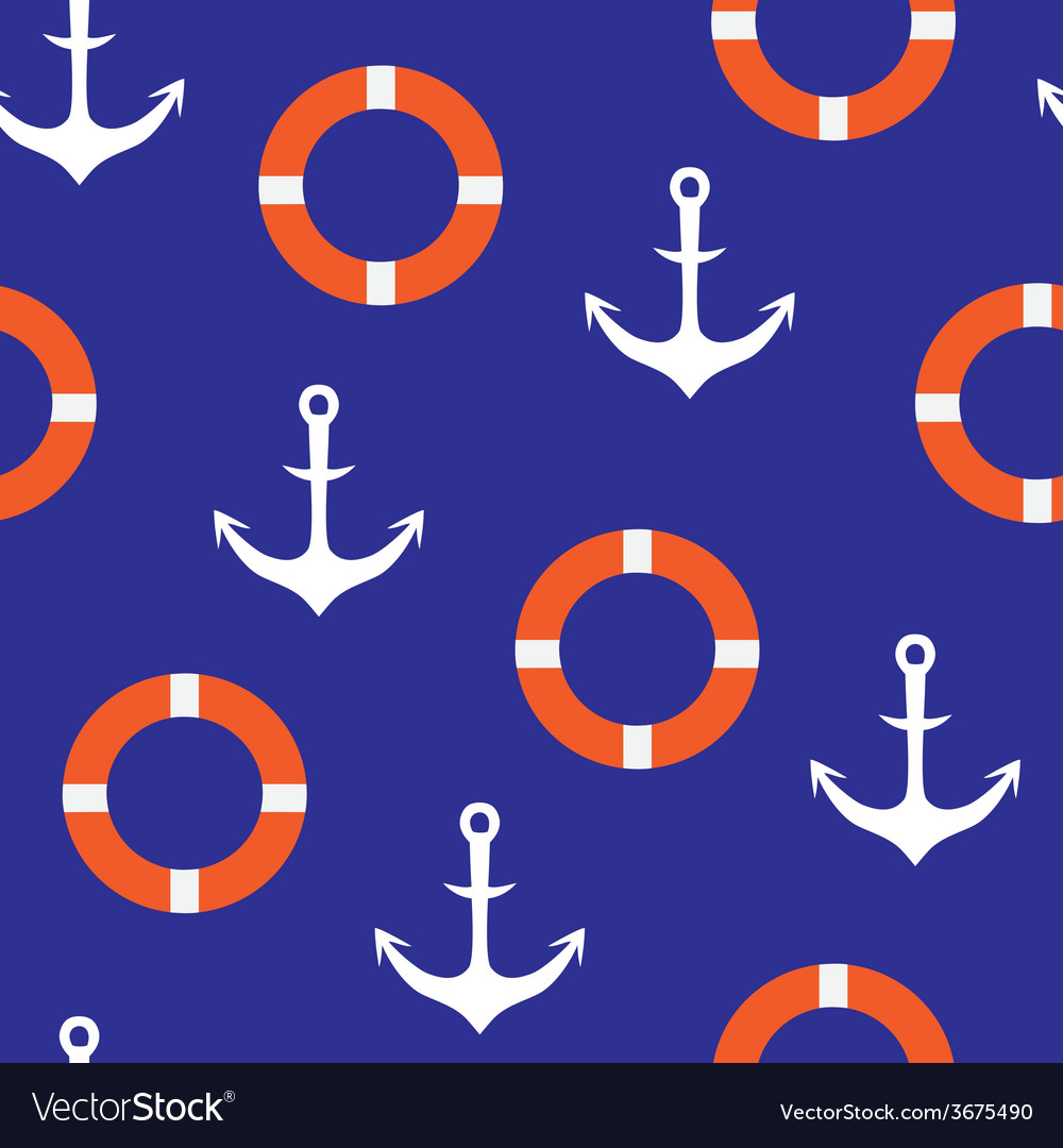 Anchor seamless pattern vector | Price: 1 Credit (USD $1)