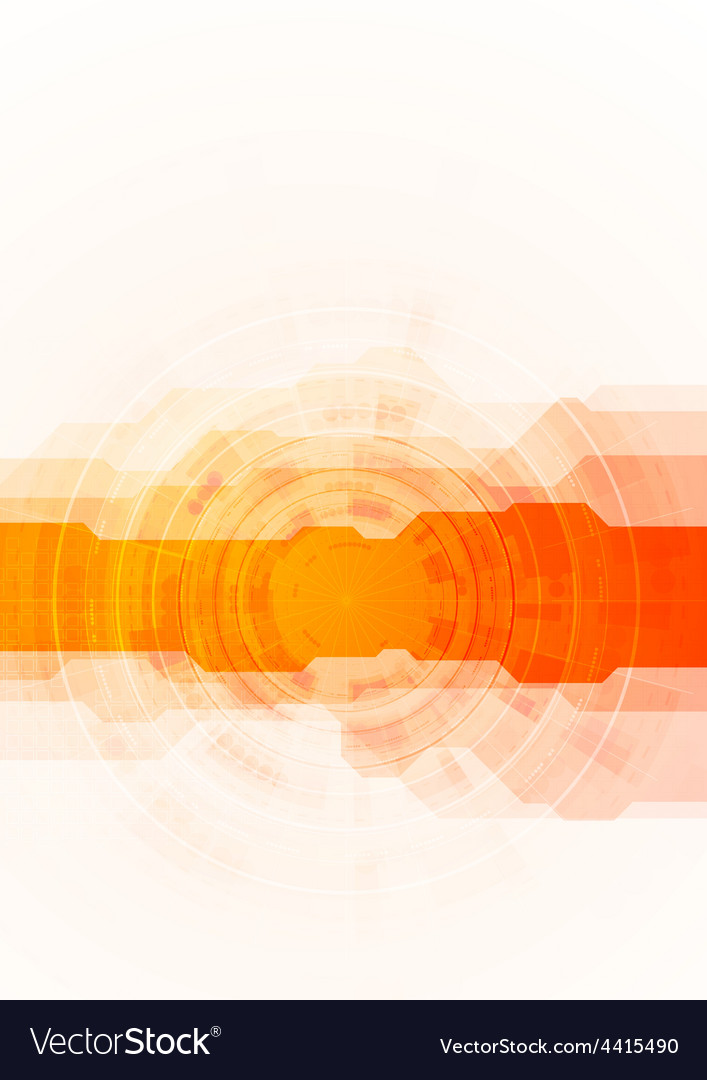 Bright orange technology background vector