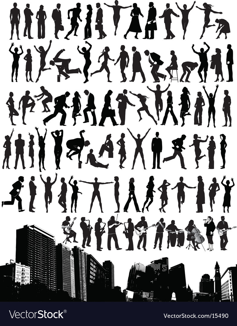 City people vector | Price: 5 Credit (USD $5)