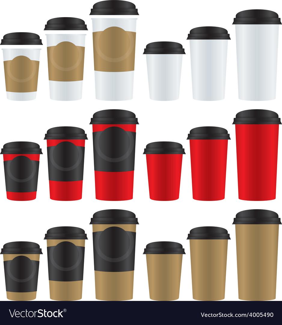 Coffee paper glasses vector | Price: 1 Credit (USD $1)