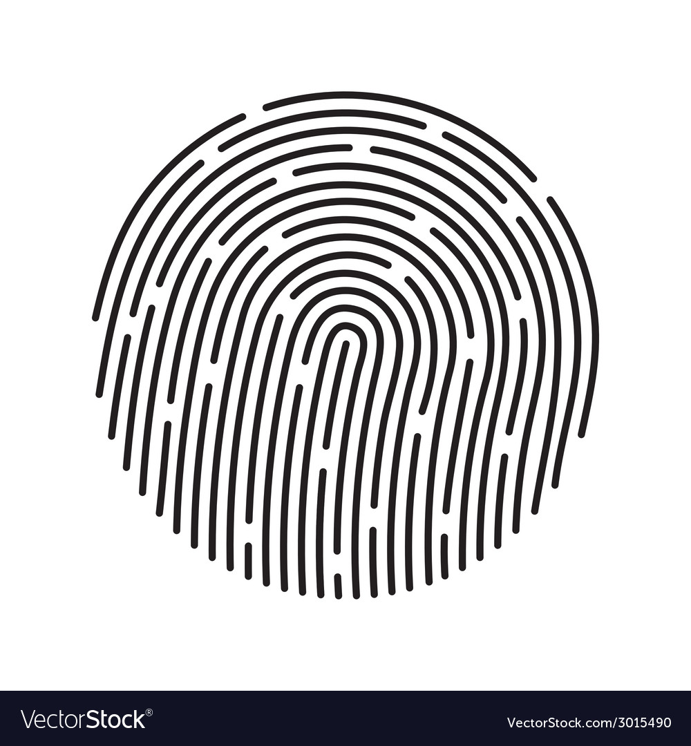 Fingerprint identification system black symbol vector | Price: 1 Credit (USD $1)