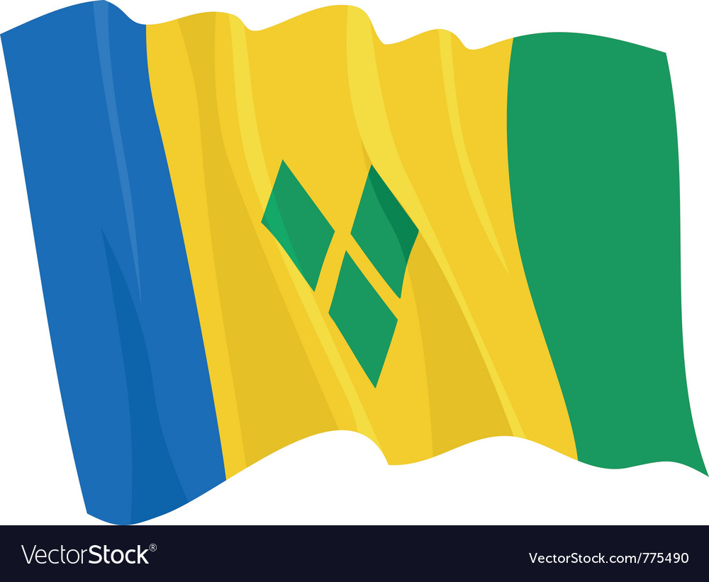 Flag of saint vincent and grenadi vector | Price: 1 Credit (USD $1)