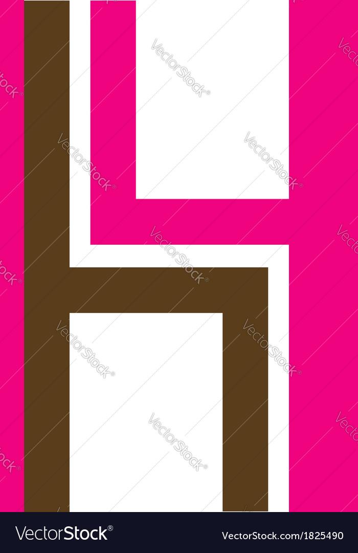 Logo for furniture designer shaped like h vector | Price: 1 Credit (USD $1)