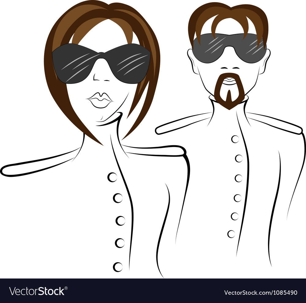 Men and women in uniform vector | Price: 1 Credit (USD $1)