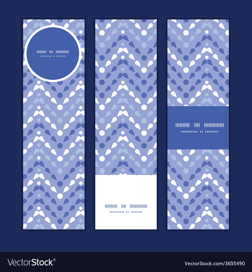 Purple drops chevron vertical banners set pattern vector | Price: 1 Credit (USD $1)