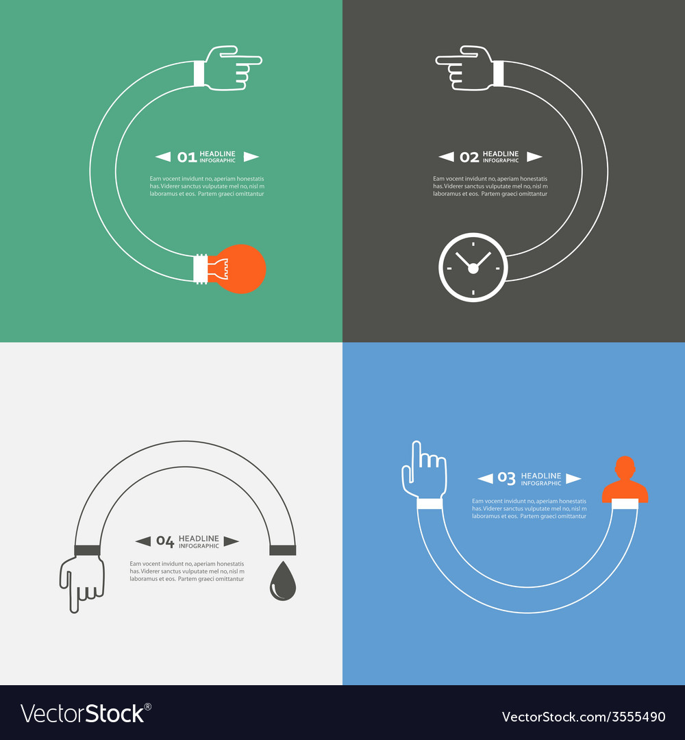 Set of symbols showing the movement process vector   Price: 1 Credit (USD $1)