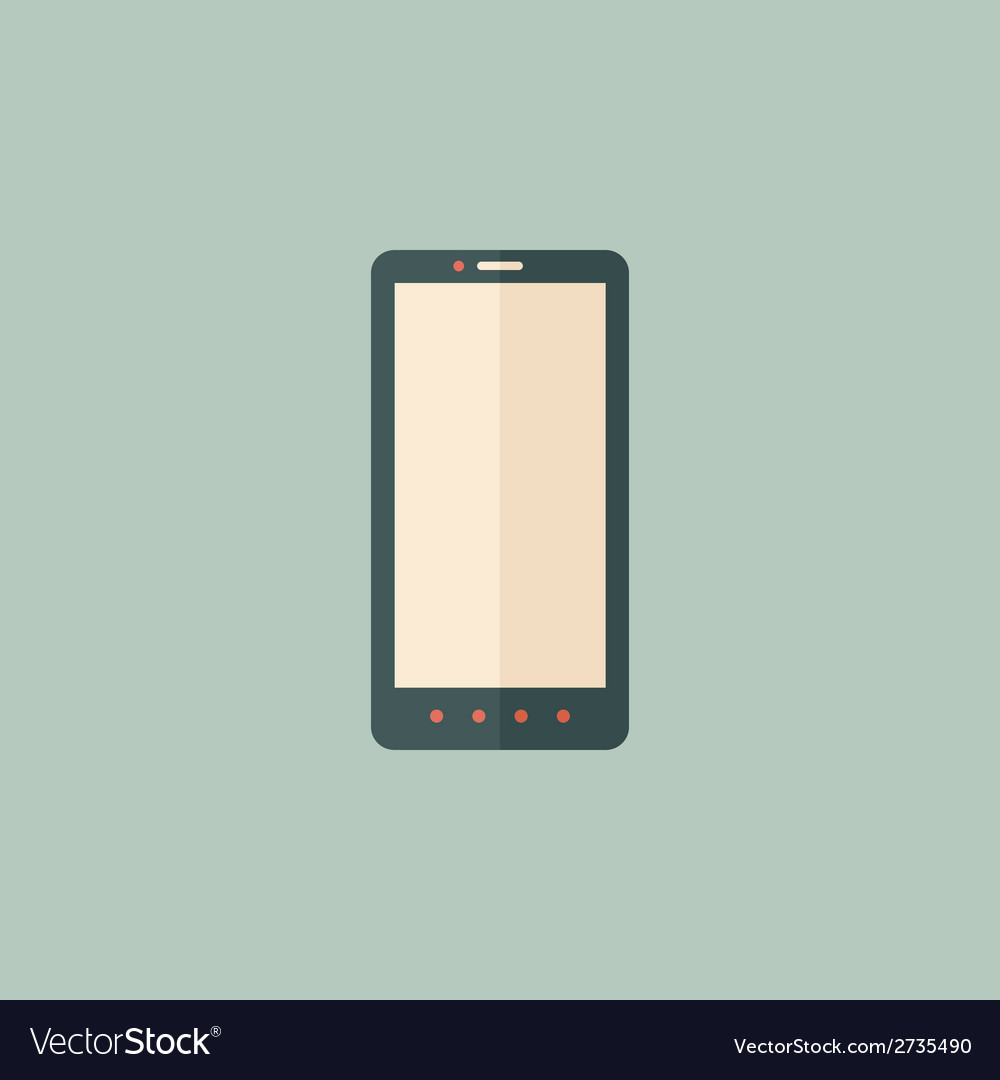 Smartphone flat icon vector | Price: 1 Credit (USD $1)