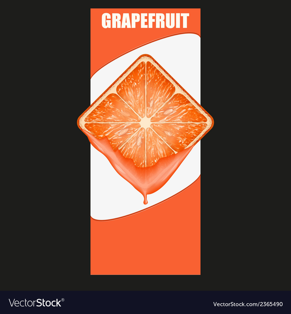 Vertical banner of grapefruit square slice space vector | Price: 1 Credit (USD $1)