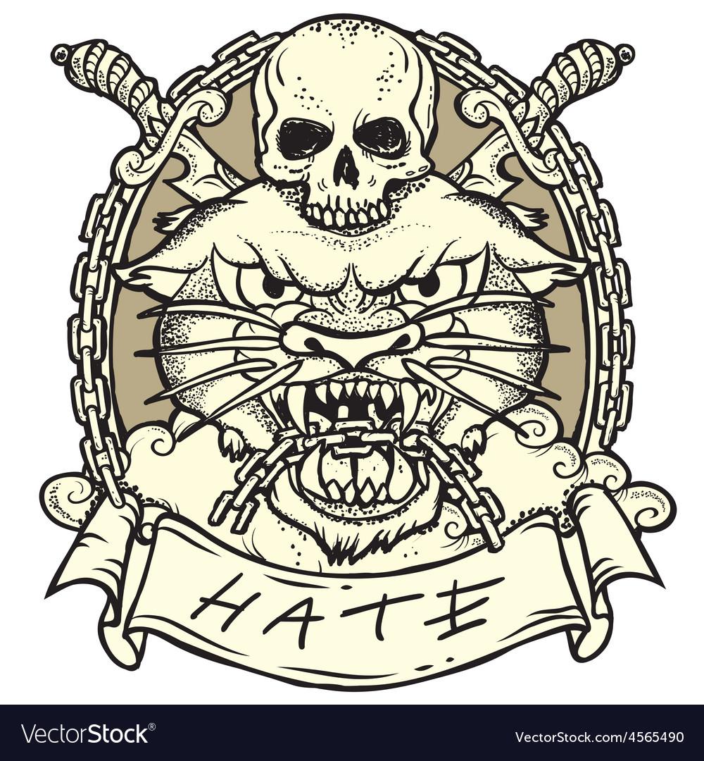 Wild tattoo vector   Price: 3 Credit (USD $3)