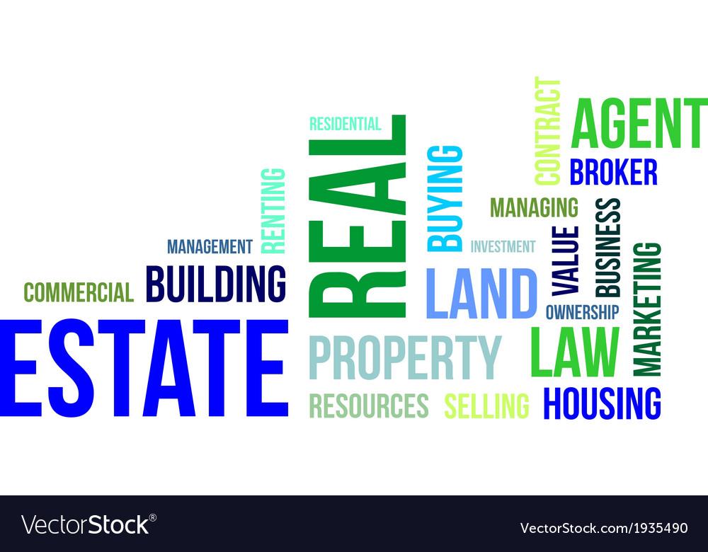Word cloud real estate vector | Price: 1 Credit (USD $1)
