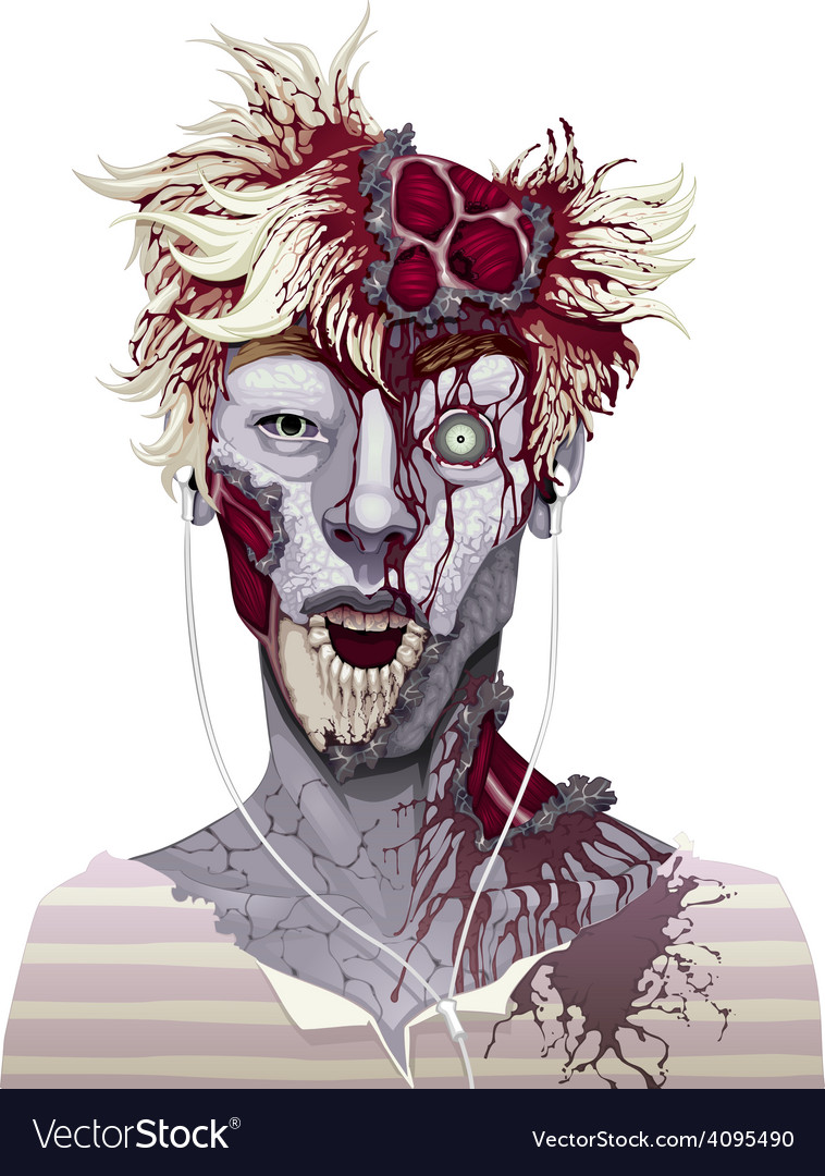 Zombie portrait vector | Price: 3 Credit (USD $3)