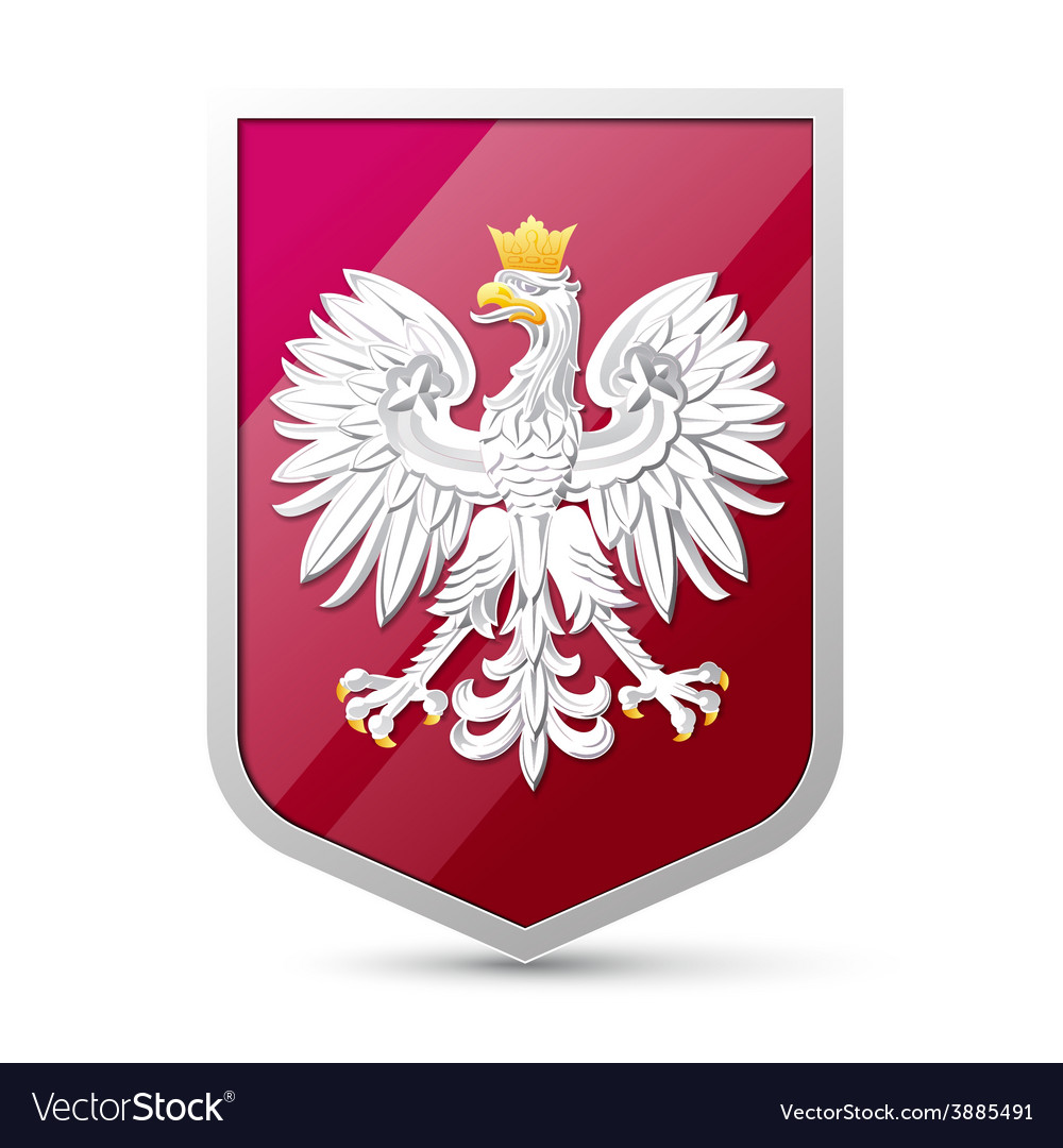 Coat of arms of poland vector | Price: 1 Credit (USD $1)