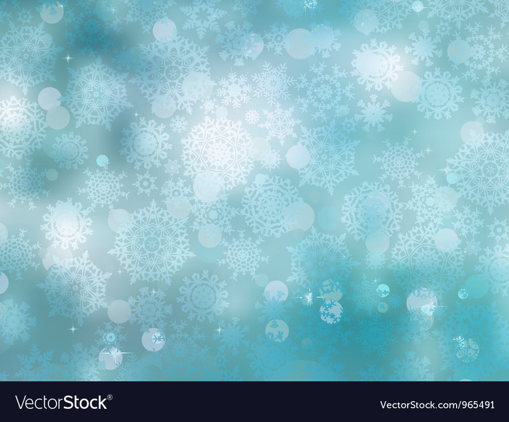 Cold christmas snowflakes background vector | Price: 1 Credit (USD $1)