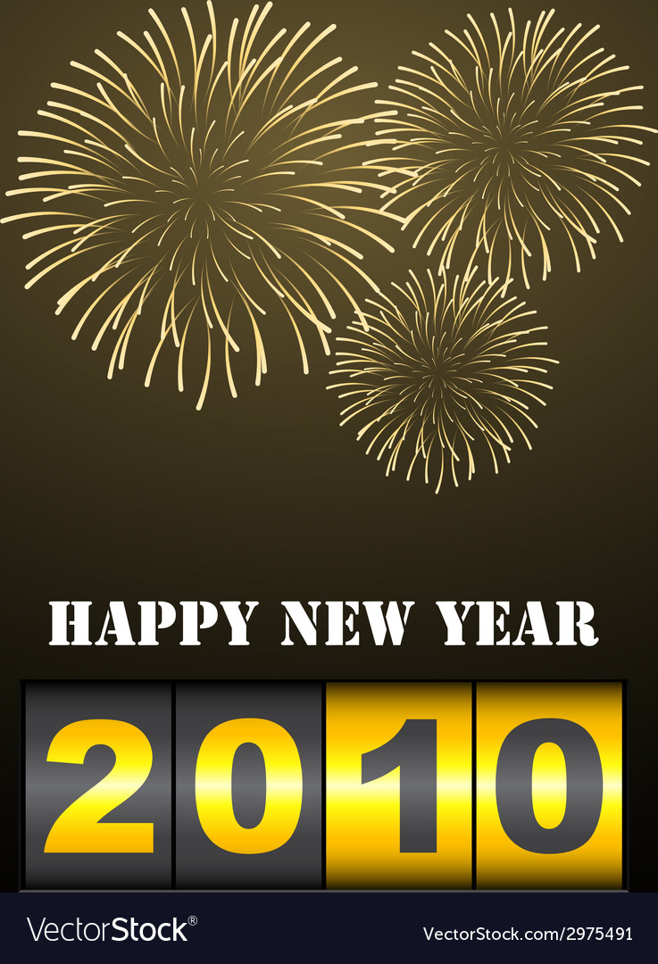 Fireworks with new year counter vector | Price: 1 Credit (USD $1)