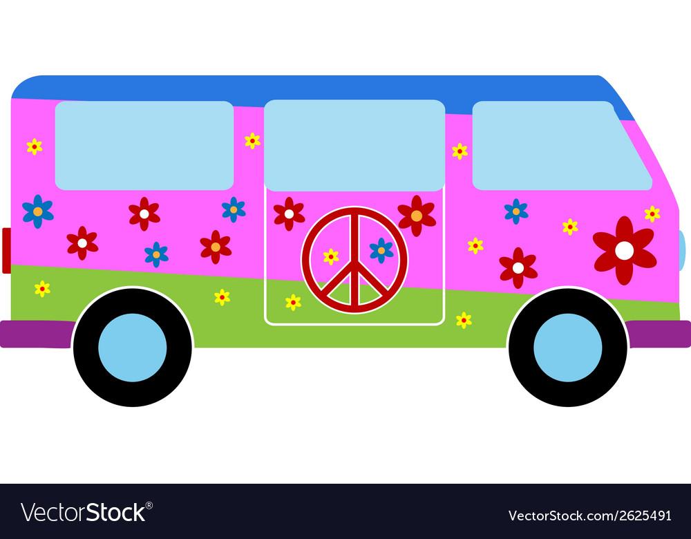 Hippie minibus icon vector | Price: 1 Credit (USD $1)