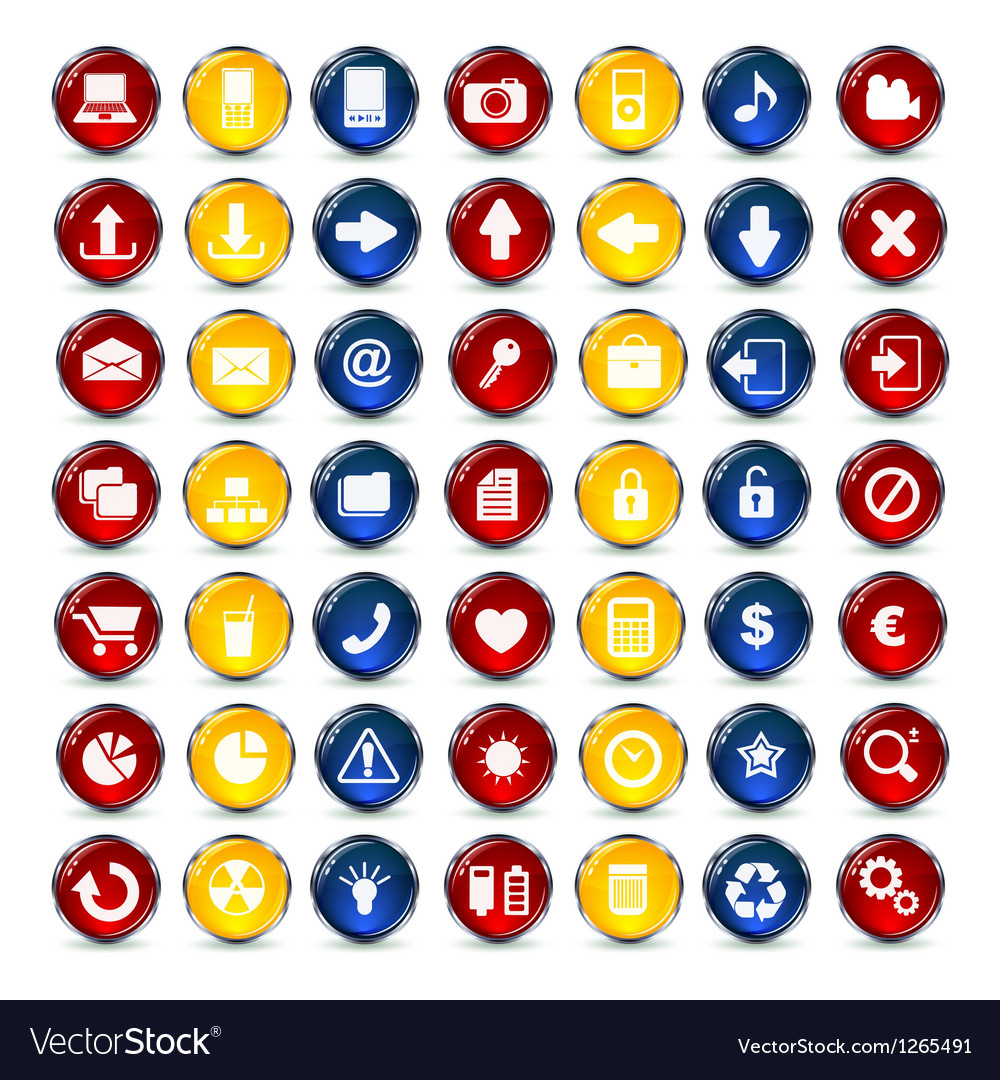 Internet and communication icons button vector | Price: 1 Credit (USD $1)