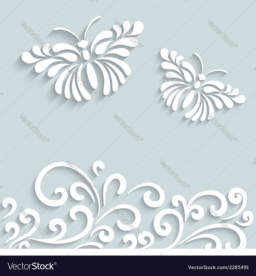 Paper butterfly background vector | Price: 1 Credit (USD $1)