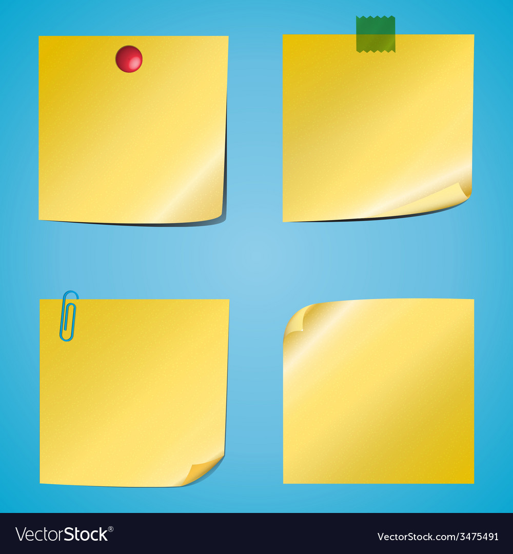 Set of notes vector | Price: 1 Credit (USD $1)