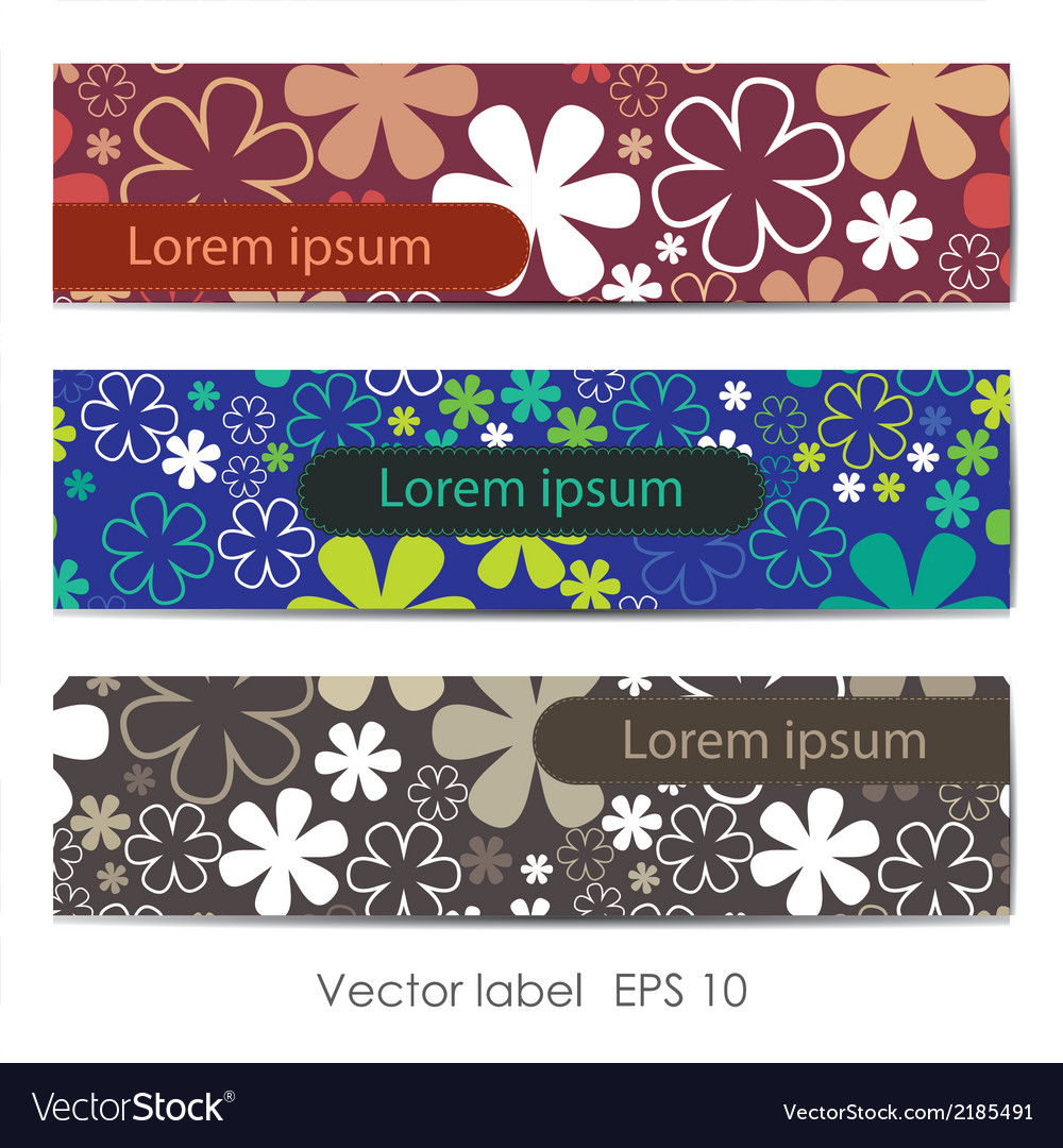 Set of three floral cards vector   Price: 1 Credit (USD $1)