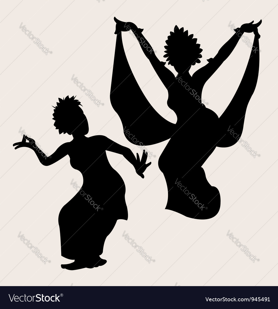 Traditional dance 2 vector | Price: 1 Credit (USD $1)