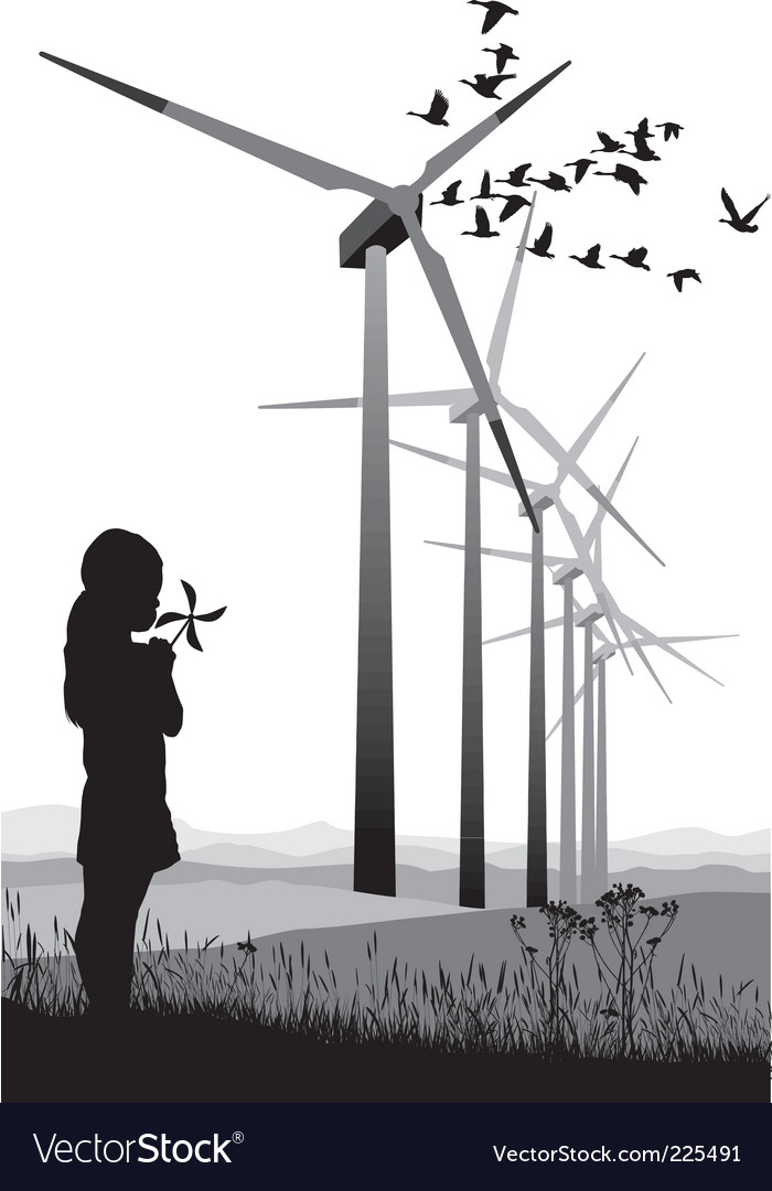 Wind turbine vector | Price: 1 Credit (USD $1)