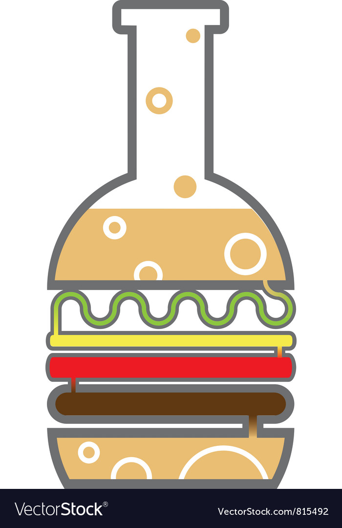 Burger beaker vector | Price: 1 Credit (USD $1)