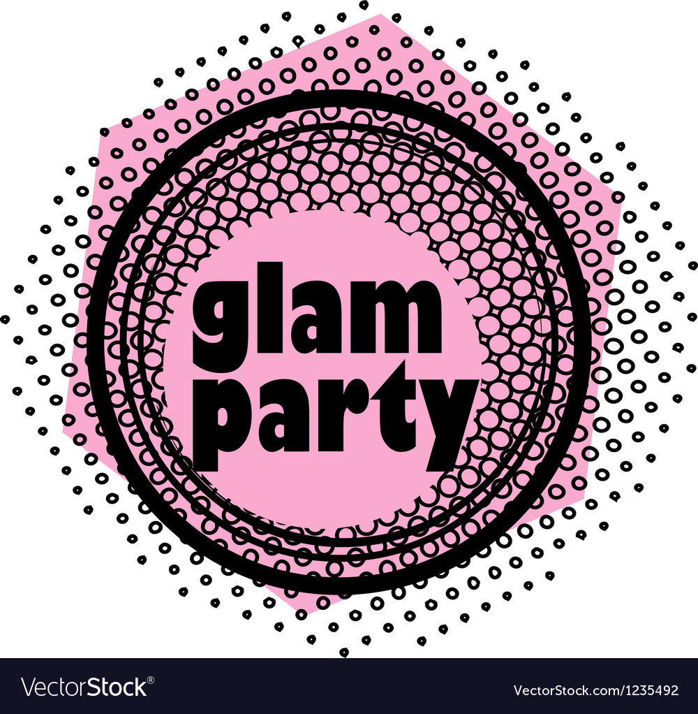Glam party stamp vector | Price: 1 Credit (USD $1)