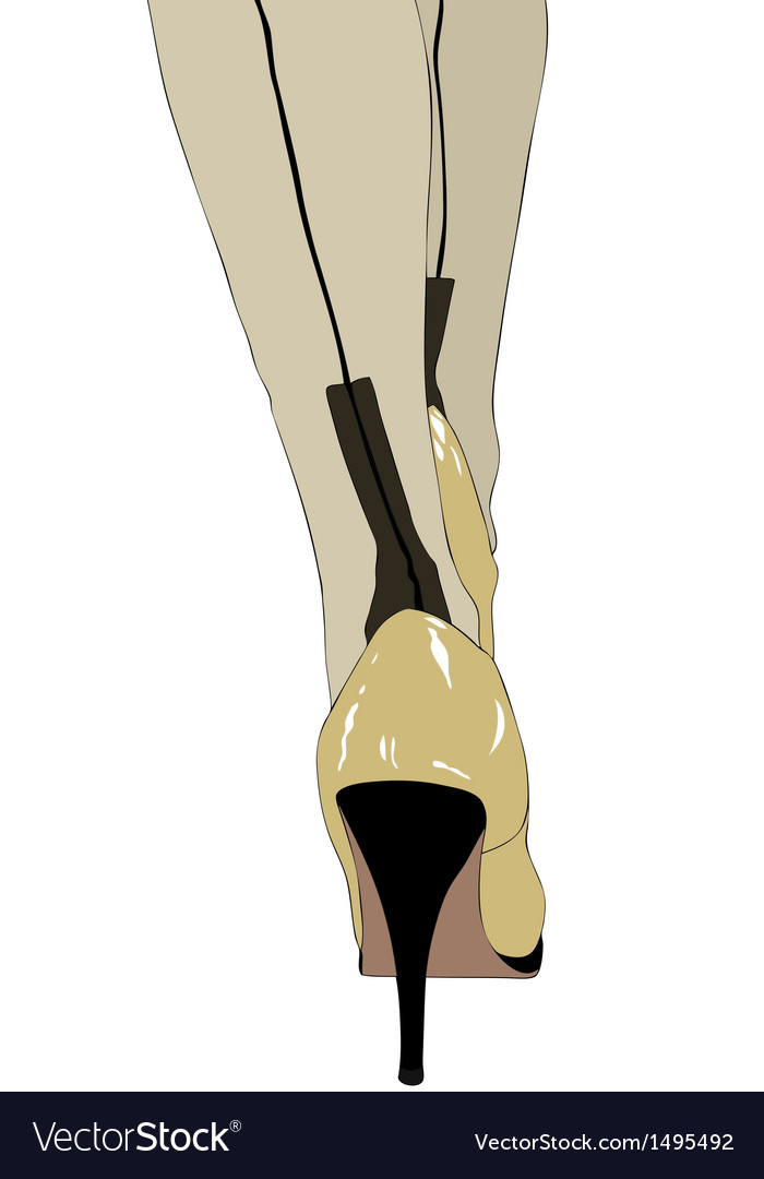 High heels and silk stockings vector | Price: 1 Credit (USD $1)