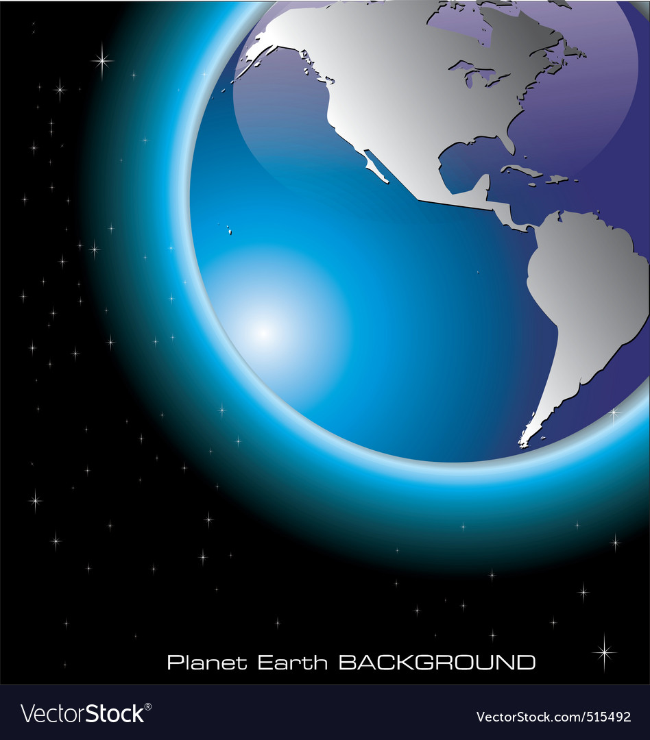 Planet earth background vector | Price: 1 Credit (USD $1)