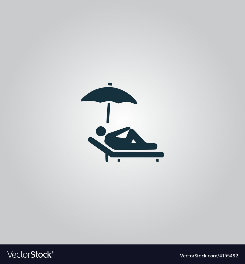 Relax under an umbrella on a lounger vector | Price: 1 Credit (USD $1)