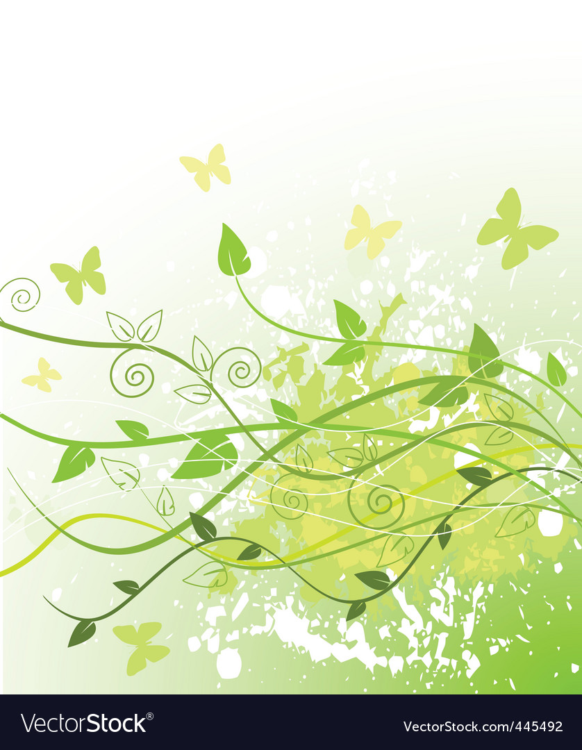 Spring in green vector | Price: 1 Credit (USD $1)