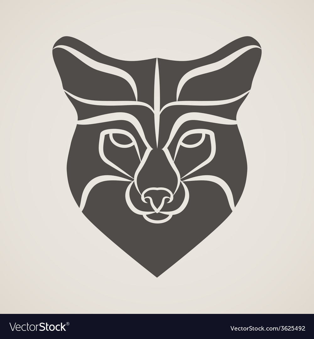 Symbol head of the old fox vector | Price: 1 Credit (USD $1)