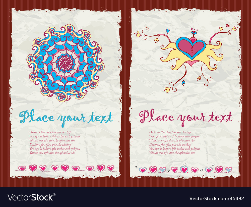 Valentine's day grunge backgrounds vector | Price: 3 Credit (USD $3)