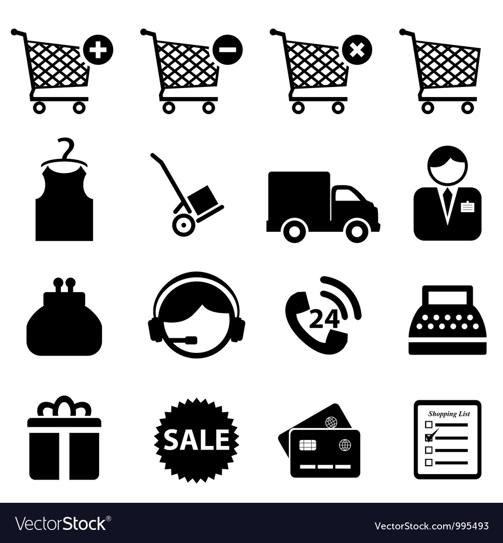 Buy and sell icons vector | Price: 1 Credit (USD $1)