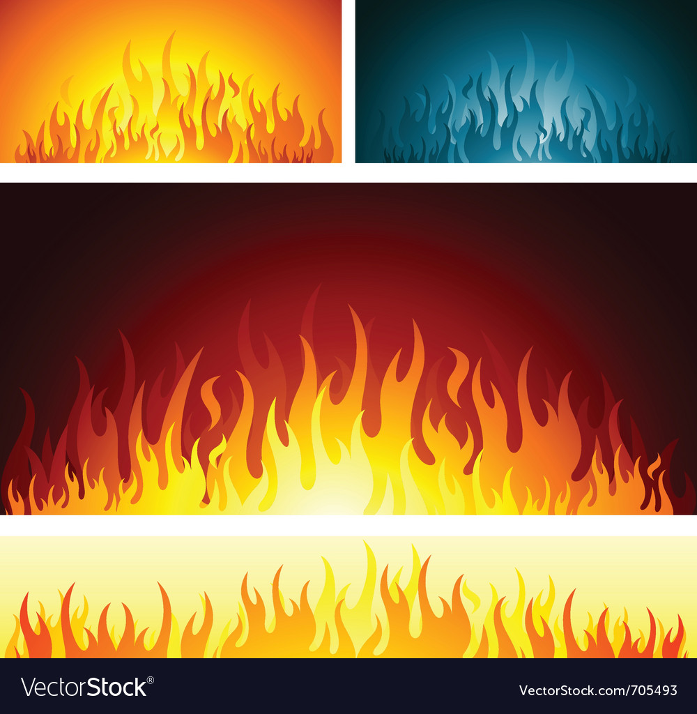 Fire flames symbol vector | Price: 1 Credit (USD $1)