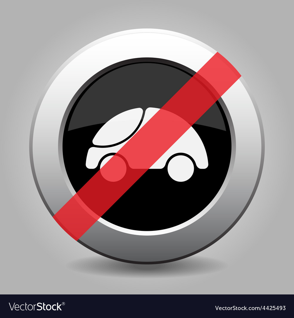 Gray chrome button - no car vector | Price: 1 Credit (USD $1)