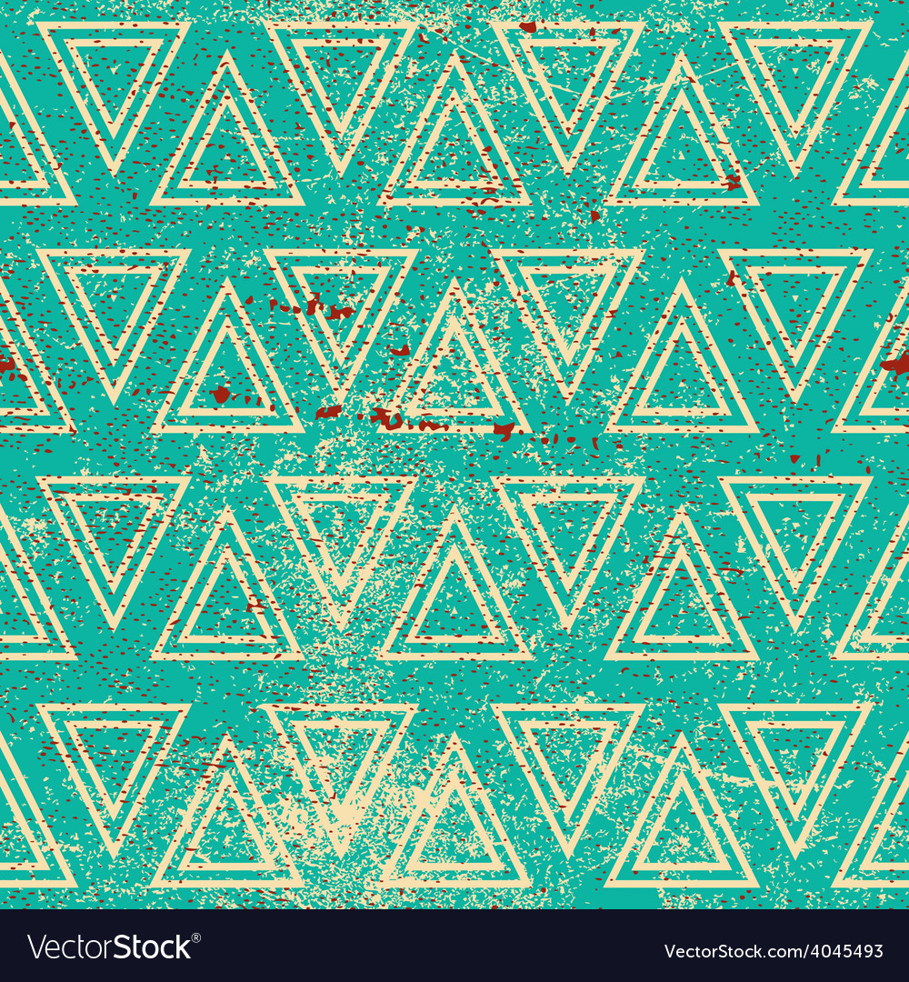 Grunge geometric seamless pattern vintage repeat vector | Price: 1 Credit (USD $1)