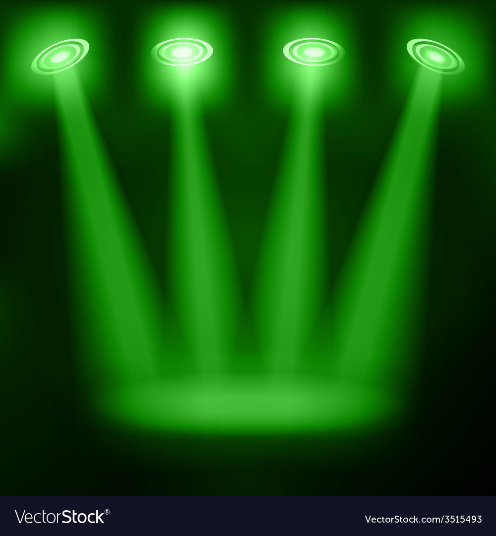 Illuminated stage podium for award ceremony vector | Price: 1 Credit (USD $1)