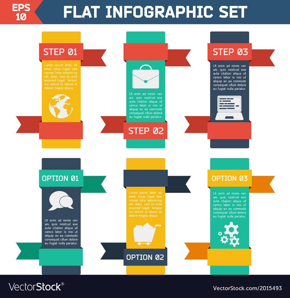 Modern flat infographic background vector | Price: 1 Credit (USD $1)
