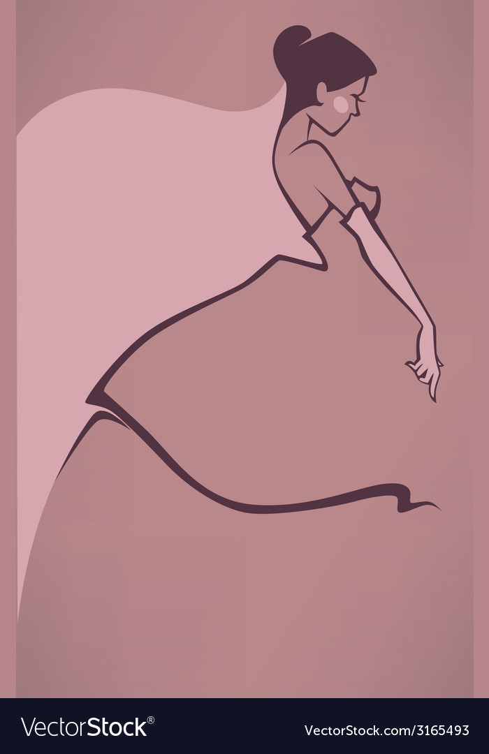 Pink bride vector | Price: 1 Credit (USD $1)