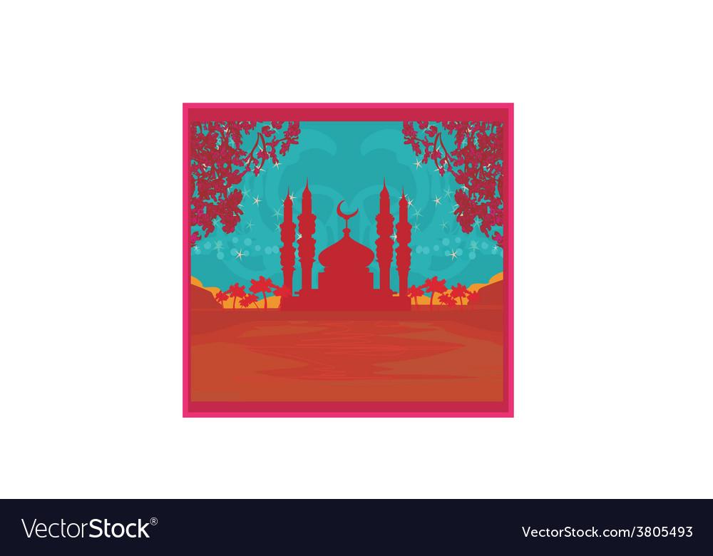 Ramadan background - mosque vector   Price: 1 Credit (USD $1)