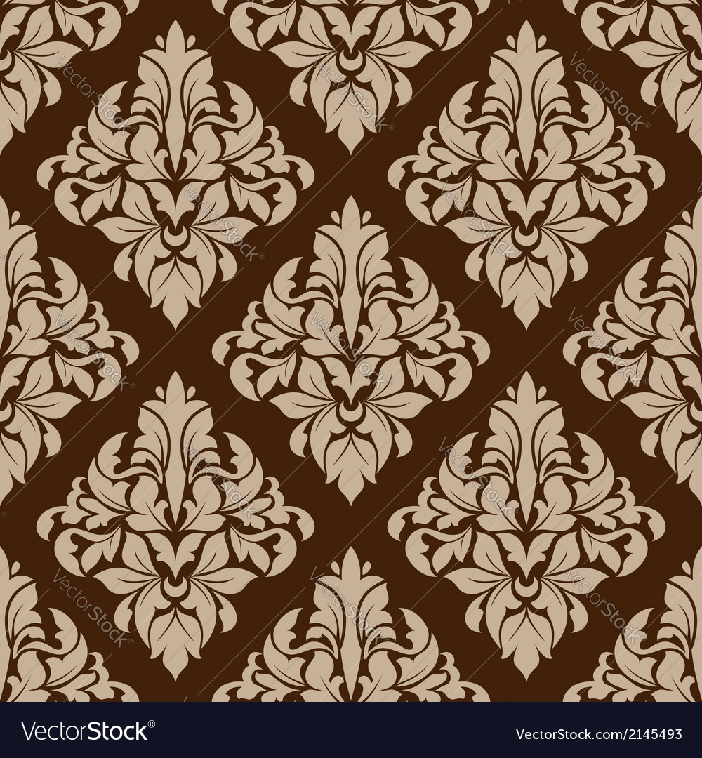 Seamless pattern in almond and cinnamon colors vector | Price: 1 Credit (USD $1)