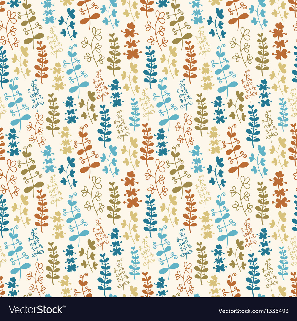 Seamless plant pattern vector | Price: 1 Credit (USD $1)