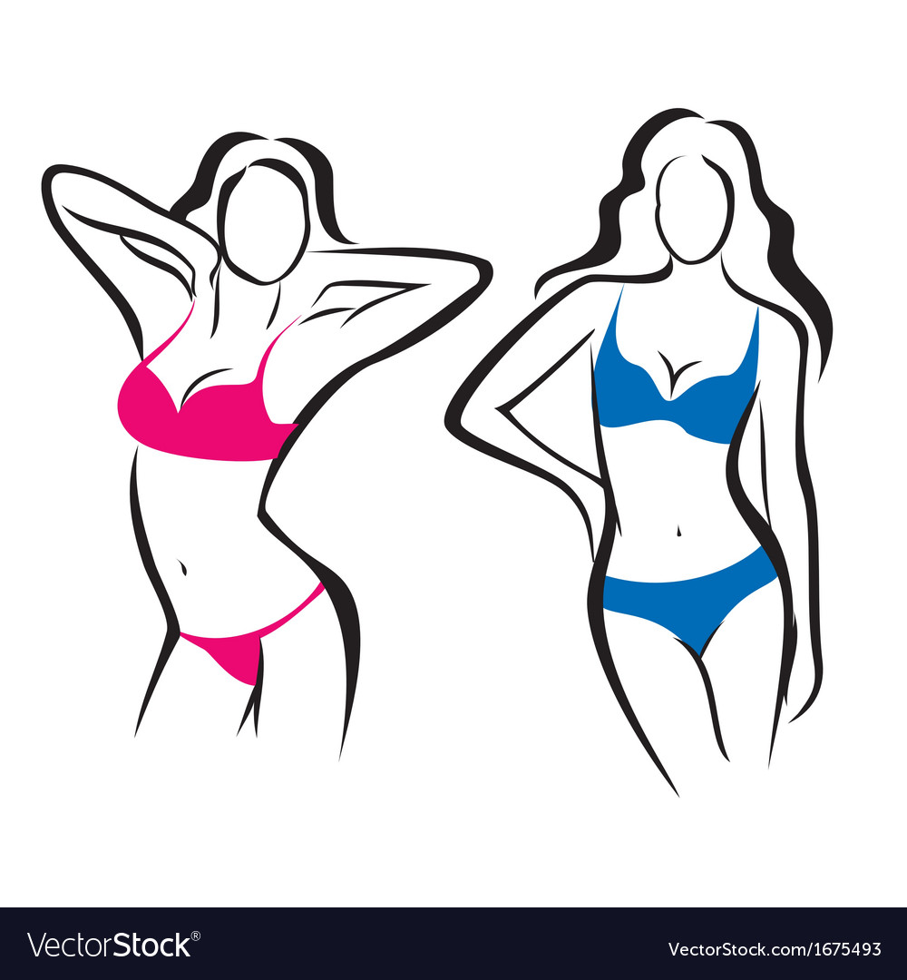 Sexy woman silhouettes vector | Price: 1 Credit (USD $1)